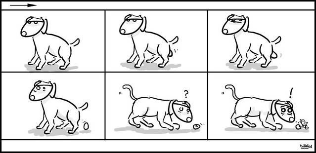 comics-strips - A dog lay eggs