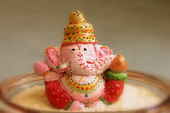Ganesha, the elephant god (Sandhya Kashyap) Tags: festival ganesha dough playdough