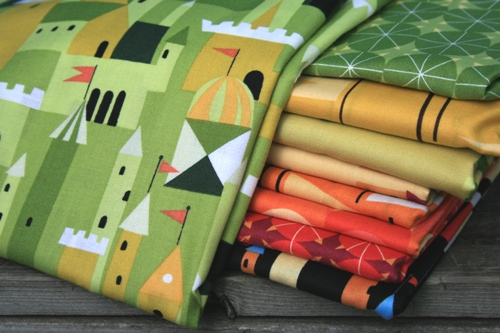 castle peeps fabric