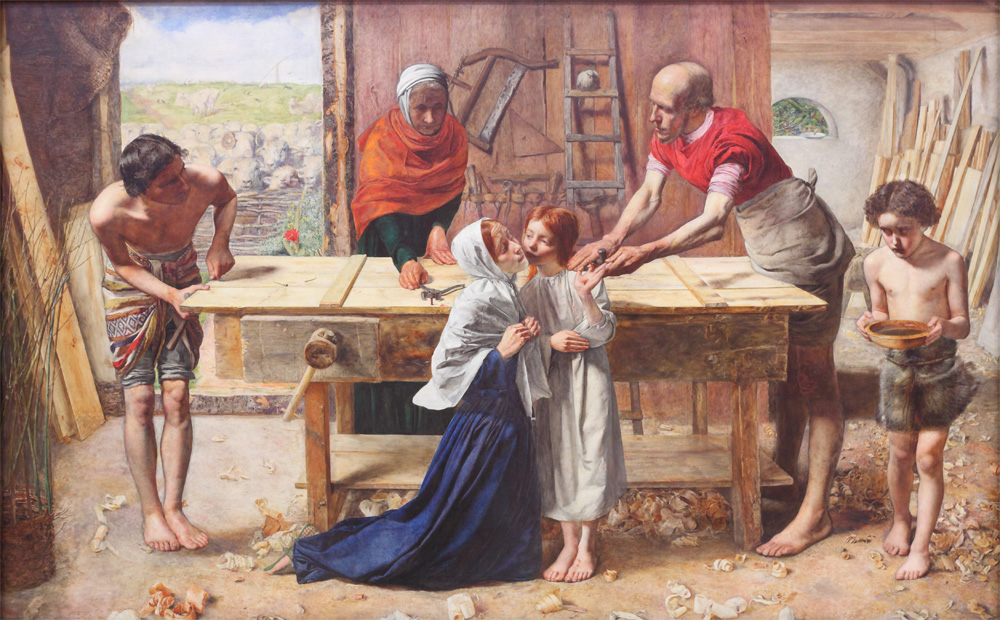 John Everett Milais, Christ in the House of His Parents ('The Carpenter's Shop'), 1849-50