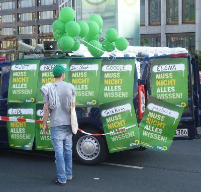 Freiheit statt Angst 2010 - Wagen der Grünen