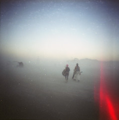 another world (scott w. h. young) Tags: sunset 120 film mediumformat playa burningman blackrockcity diana dust dianaf 2010 38mm athousandmovesaminute