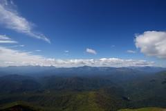 大雪山系と十勝連峰を一望