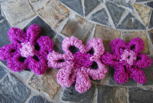 Flower scarf WIP
