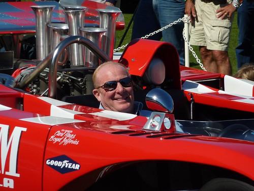 Jimmy Castle in his Lola T222
