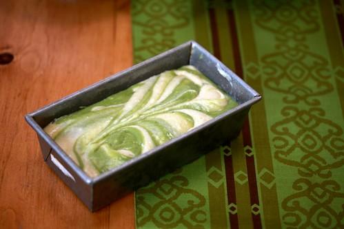 Lemon and Matcha Marble Pound Cake | Joy the Baker