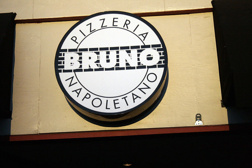 Pizzeria Bruno sign