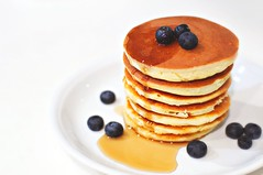 Rice flour pancakes with blueberries
