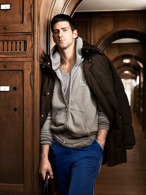 Novak Djokovic's Tacchini photoshoot