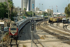 "Israel Railways ""Bobo"" Class No. 746 heads towards Haifa Center HaShmona Station on 1 Nov 2007 (Trains and trams eveywhere) Tags: israel spain bobo haifa prima railways alsthom jt42bw israelrailways gmemd gecalsthom"