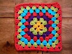 traditional granny (Lindevrouwsweb) Tags: crochet grannysquare haken vierkantjes