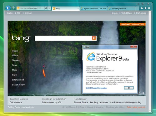 Windows Internet Explorer 9 Beta