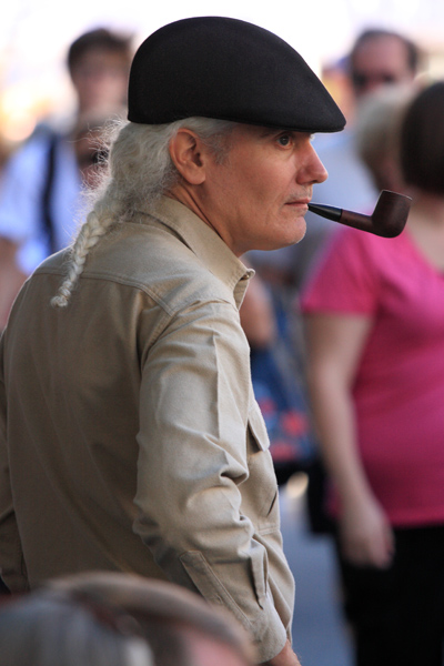 And it s a cap not a hat . . . and never worn backwards. It looks good here  with a neutral color theme and the braid of white hair. 8f1143cbda7