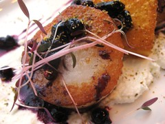 SEARED SCALLOPS & RIVER'S EDGE GOAT CHEESE