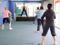 Kickboxing exercise will burn fat and build le...