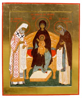 Mother of God with Sts Innocent and Herman of Alaska