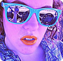 I wear my Sunglasses.... (Meshellegirl21) Tags: blue sunglasses cool double vision
