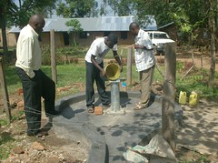 Eburenga Primary School-chlorination of rehabilitated well.