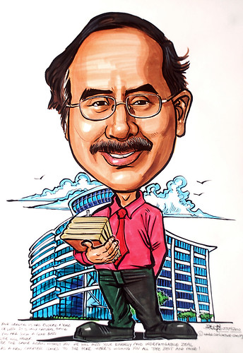 Caricature  for National Library SIngapore NLB