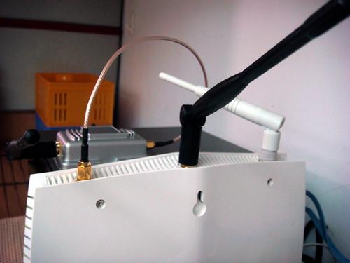 無線網路AP放大強波器連接 Vigor 2130n