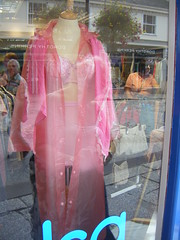Lady in pink (yorkshirepuddin) Tags: charity holiday haven window shop mac funny cornwall underwear visit odd shopwindow truro windowshopping wanderings charityshop pdsa sunholiday 950holiday tokenholiday