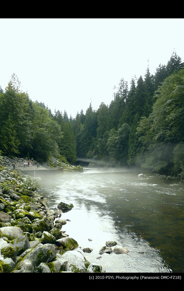 Mist over Capilano River