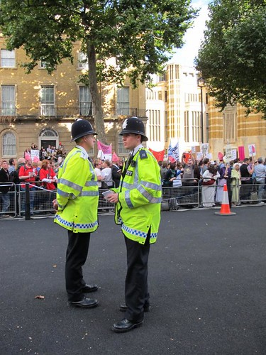 Policing Protest the Pope