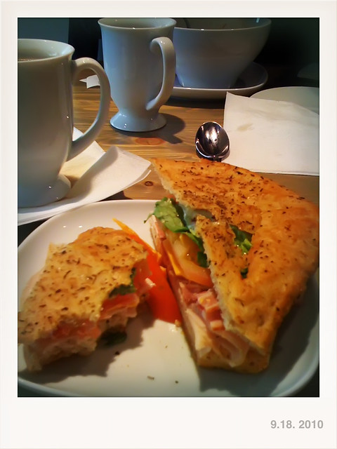 my turkey & bacon club sandwich at Tangerine