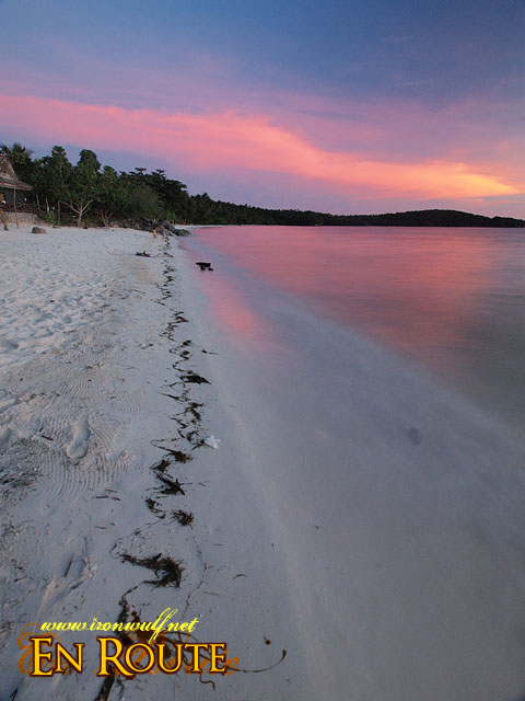 Beautiful stretch of powder-white sand beach of Gumasa