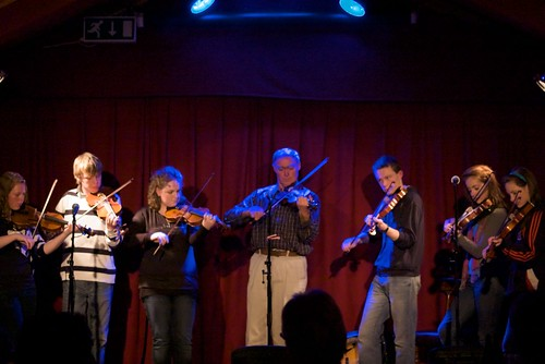 Anton MacGabhann and the young Meath Fiddlers