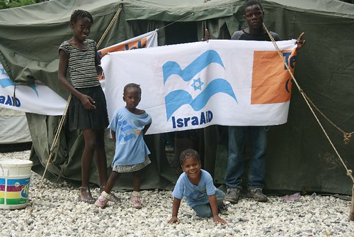 Children in Haiti benefit from aid given by Israel's organization, IsraAID