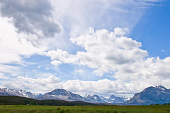 St Mary's Entrance (Farmgirl18) Tags: blue sky white snow green clouds landscape nationalpark big glaciernationalpark peaks moutains monatana tamron1750mm canonrebelxti
