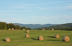 Round Bales (Adam Franco) Tags: mountains vermont unitedstates fields 5star weybridge haybales roundbales