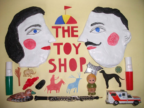 'The Toy Shop' Exhibition Poster by Laura Gee