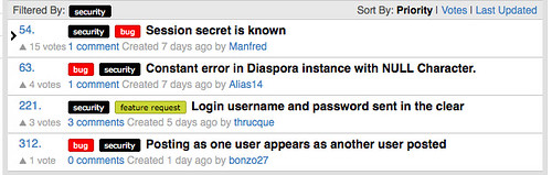 diaspora security bugs