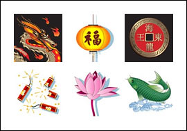 free Eastern Dragon slot game symbols