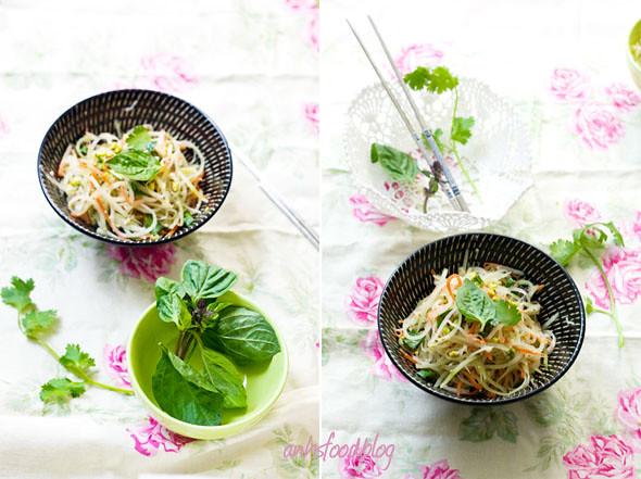 Vietnamese vegan papaya salad (Nộm đu đủ/ Gỏi đu đủ chay)