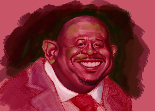 School Assignment 5 - caricature of Forest Whitaker - 1 small