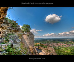 The Cloud - Castle Hohenneuffen, Germany (HDR) (farbspiel) Tags: castle history sunshine clouds photoshop germany landscape geotagged photography ancient nikon cloudy wolken bluesky historic handheld alb landschaft dri blauerhimmel deu hdr highdynamicrange hdri sonnenschein superwideangle wolkig niceweather 10mm postprocessing badenwrttemberg schwbische dynamicrangeincrease ultrawideangle d90 schneswetter photomatix hohenneuffen neuffen tonemapped tonemapping detailenhancer topazadjust topazdenoise klausherrmann topazsoftware sigma1020mmf35exdchsm topazphotoshopbundle geo:lat=4855576906 geo:lon=939287603