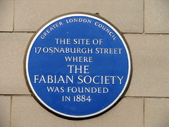 Photo of Fabian Society blue plaque