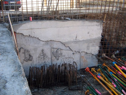 Muro de hormigón cutre