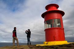 Instructor (ZeiR) Tags: city red sky people woman lighthouse man yellow island town iceland harbour peninsula stykkishlmur snfellsnes sgandisey breidarfjordur