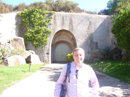 Marc at the entrance of the Jarvis Wines cave