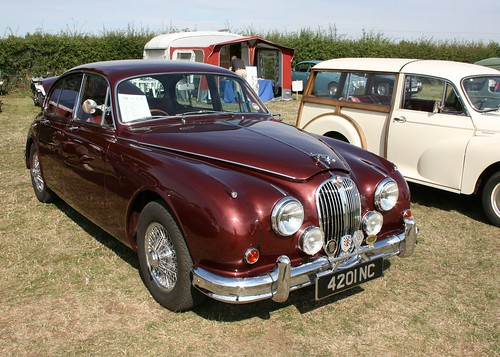 Jaguar Mk2 3-8. Wyliefox Jaguar at Winterton Steam Fair