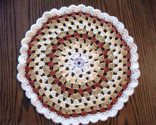 16-inch Tan/Orange Mandala