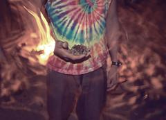 ☲ (ERiN SiTT) Tags: night fire tie toad memory dye blurr