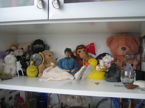 dolls on the shelf