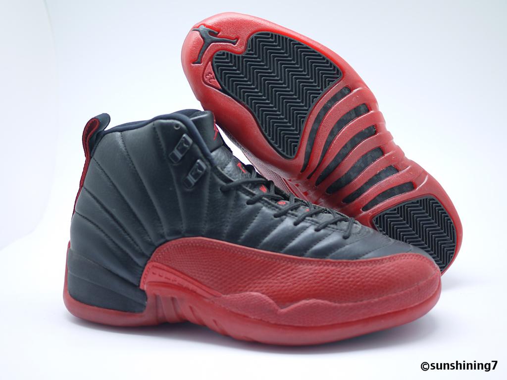 4fa3cec8816 Sunshining7 - Nike Air Jordan XII (12) OG 1996 - Black Varsity Red (