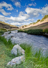Hot Creek (mwdiaz) Tags: ca hot water clouds creek canon rocks hwy springs 395