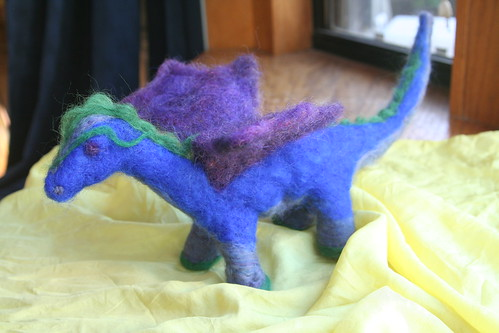 Needle-Felted Dragon for Michaelmas